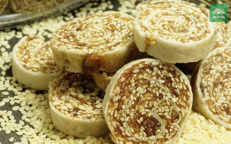 Bánh chuối phồng hạt mè