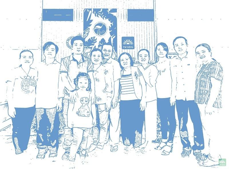 Gia đình Tư Bông - stamp