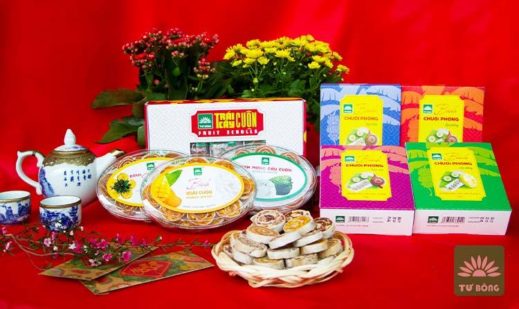 Bánh trái cây cuộn Tư Bông