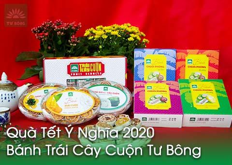 Quà Tết Ý Nghĩa 2020 – Bánh Trái Cây Cuộn Tư Bông