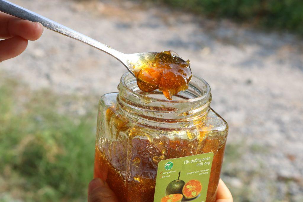 tắc mật ong hỗ trợ chữa viêm họng