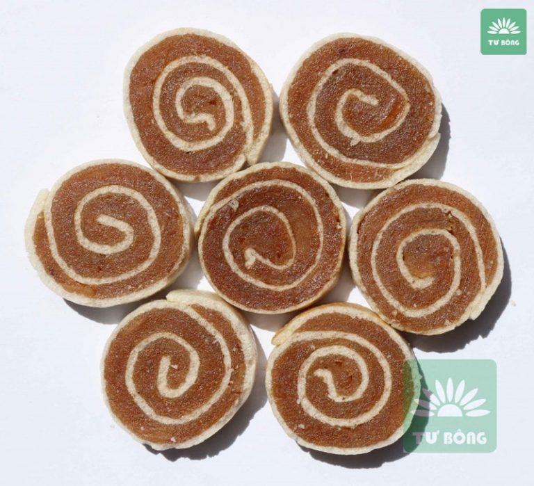 Khoanh bánh cuộn được làm từ 100% trái cây chín
